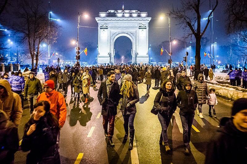 Romania elections anti-corruption protest