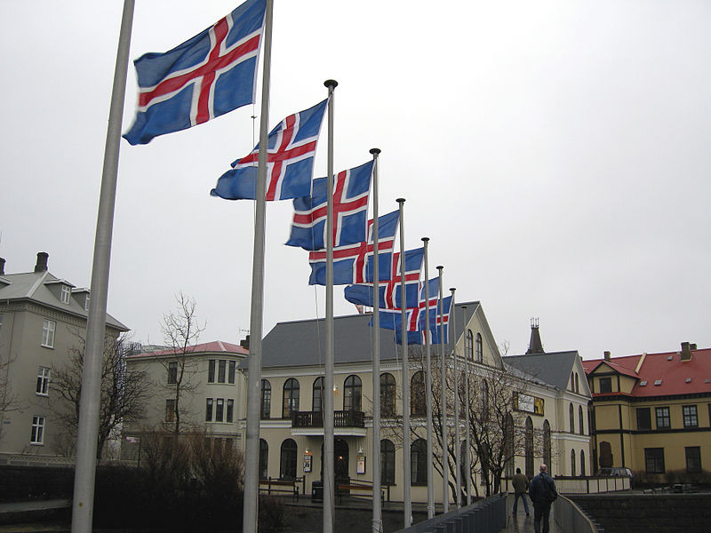 Iceland elections flags